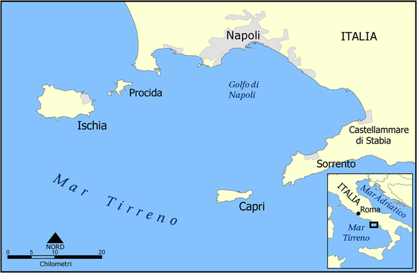 Flegrean Islands. Capri and Ischia map it.PNG