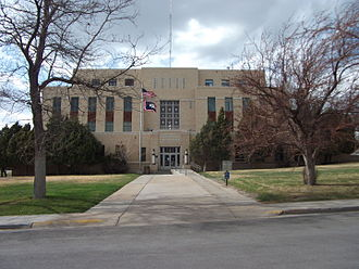 Carbon County, Wyoming - Image: Carbon County Courthouse Wyoming 5 3 2014