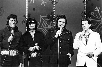 Roy Orbison - Orbison with Carl Perkins, Johnny Cash, and Jerry Lee Lewis for a televised 1977 Christmas special