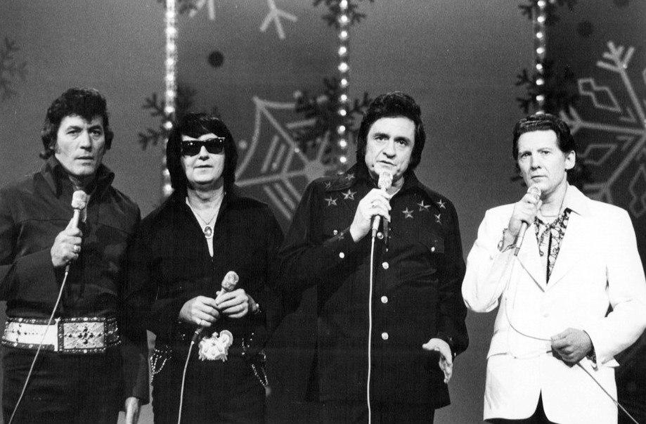 Carl Perkins Roy Orbison Johnny Cash Jerry Lee Lewis 1977
