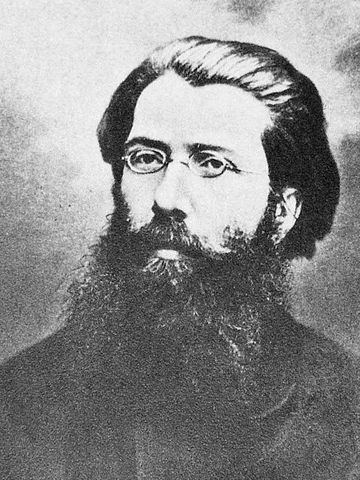 Carlo Cafiero, first person to break away from Mikhail Bakunin's collectivist anarchism and advocate anarchy and communism Carlo Cafiero.jpg