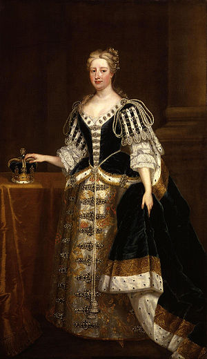 1727 in art - Image: Caroline Wilhelmina of Brandenburg Ansbach by Charles Jervas