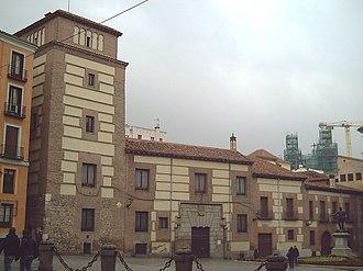 Real Academia de Ciencias Morales y Políticas - The Royal Academy of Moral and Political Sciences, in the Plaza de la Villa, Madrid