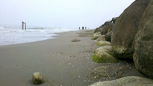 Caspian sea's shore near Nour, Mazandaran