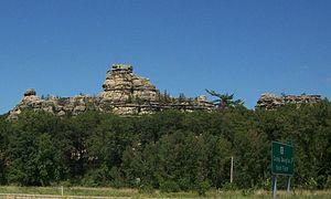 Camp Douglas, Wisconsin - Castle Rock, near Camp Douglas