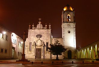 Aveiro, Portugal - The front facade of the Cathedral of Aveiro