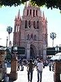 Catedral de San Miguel de Allende, vista desde el parque - panoramio.jpg