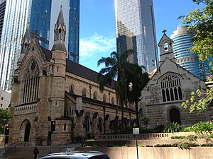 Cathedral of St Stephen, Brisbane - Cathedral of St Stephen, Brisbane, west front