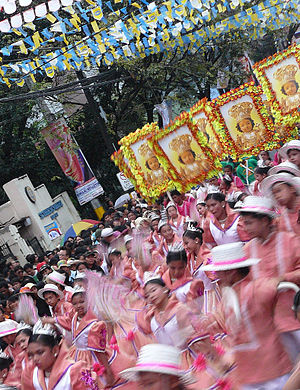 Procession during the Feast Day of the Santo Niño.