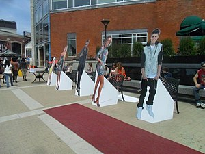 Brampton Arts Walk of Fame - Standees at Celebrampton, 2013. The status of Lady Gaga, Usher, et al. in the Walk of Fame is unknown.