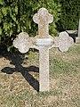 Cemetery, stone cross (†1936), 2018 Dombóvár.jpg
