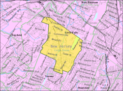 Census Bureau map of Cedar Grove, New Jersey
