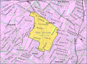 Cedar Grove, New Jersey - Image: Census Bureau map of Cedar Grove, New Jersey