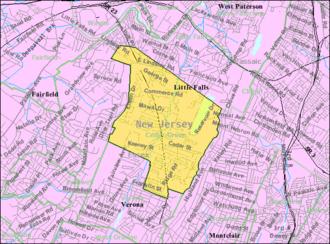 Cedar Grove, New Jersey - Image: Census Bureau map of Cedar Grove, New Jersey