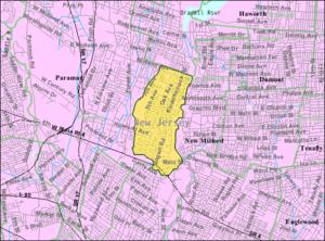 River Edge, New Jersey - Image: Census Bureau map of River Edge, New Jersey