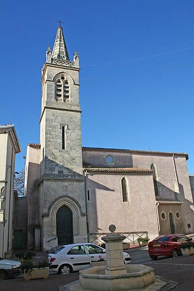 Cers (Hérault) - Église Saint-Genies.