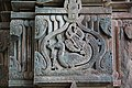 Chandramouleshwar Temple, Artistic cuttings of peacock on the frame of door entrance carved in Chalukya style.jpg