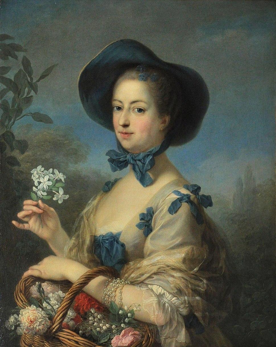 Charles André Van Loo - Madame de Pompadour en belle jardinière - v.1754-1755