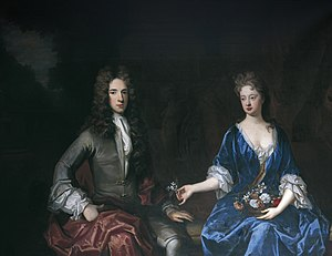 Eversfield baronets - Portrait of Charles Eversfield and his wife, attributed to a follower of Godfrey Kneller. Horsham Museum, Horsham, Sussex