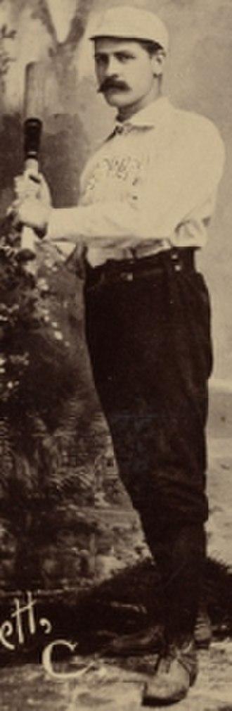 Charlie Bennett - Bennett, c. 1891, with the Boston Beaneaters