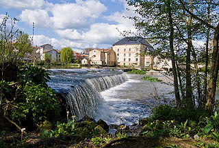 Clain river in France
