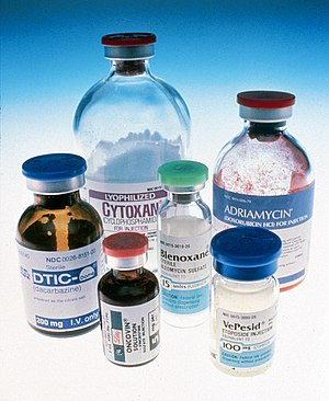 Six bottles of chemotherapeutic agents for inj...