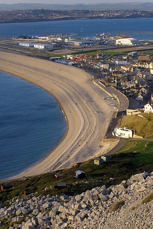 Chesil Beach - Chesil Cove at the Portland end of Chesil Beach