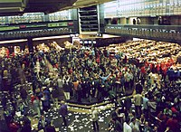 Trading floor at the Chicago Board of Trade.