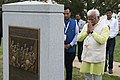 Chief Minister Manohar Lal Khattar takes part in a wreath-laying ceremony at the Space Shuttle Columbia Memorial (20500219770).jpg