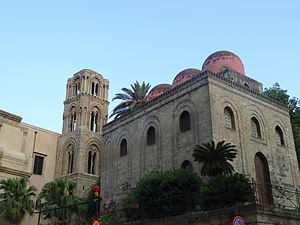 Church of San Cataldo - San Cataldo, Palermo, with its typical red domes.