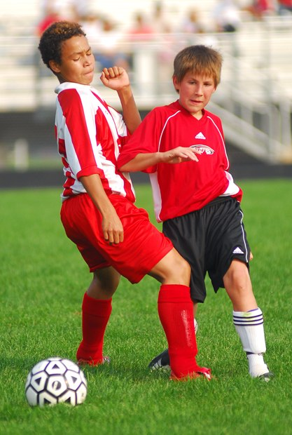 Children soccer elbow