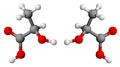 Chiralità acido lattico enantiomeri.png
