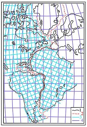 Boris Choubert - Boris Choubert's reconstruction of the America-Greenland-Europe-Africa supercontinent (1935).
