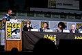 Chris Hardwick, Peter Capaldi, Steven Moffat, Pearl Mackie & Matt Lucas (36230960806).jpg