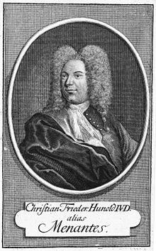 Christian Friedrich Hunold, alias Menantes, 1680–1721 (Quelle: Wikimedia)