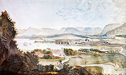 Christiania in July of 1814, as seen from Ekeberg.
