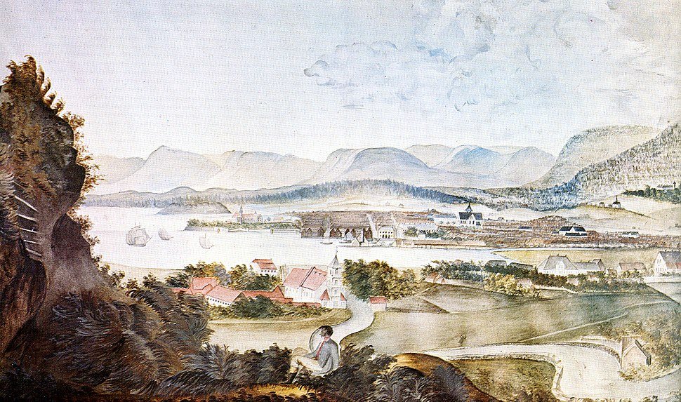 Christiania Norway in 1814 by MK Tholstrup