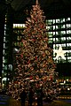Christmas tree on the Potsdamer Platz (Sony Center) in Berlin, Germany.jpg
