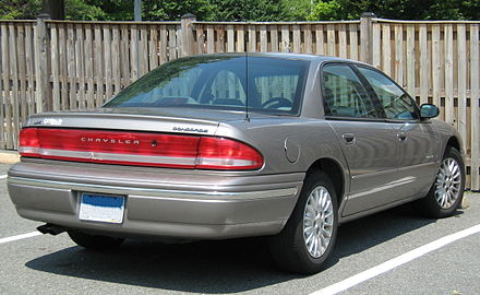 First generation featured full width taillamp design Chrysler Concorde LX silver rear cz.jpg