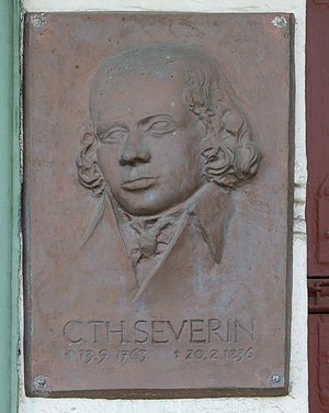 Carl Theodor Severin - Tablet at Severin's house in Bad Doberan