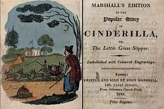 John Marshall (publisher) - The frontispiece and title page of Marshall's edition of Cinderella, 1819.