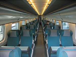 Cisalpino - Interior of the 2nd class cars.