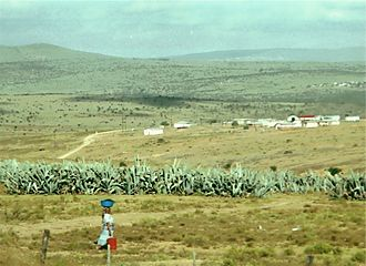 Apartheid - Rural area in Ciskei, one of the apartheid era homelands