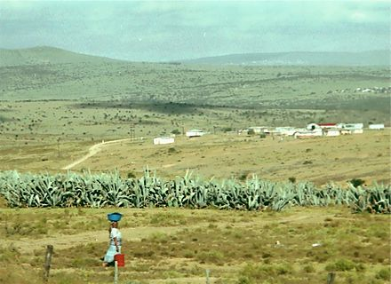 Rural area in Ciskei, one the four nominally independent homelands. Ciskei2.jpg