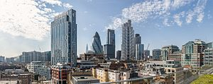 Chapter Spitalfields - Image: City from One Bishops Square