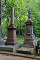 City of London Cemetery - Stokes and Kendrick tombs on Church Avenue.jpg