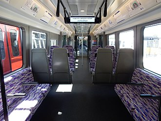 British Rail Class 345 - Image: Class 345 interior 7th July 2017 02