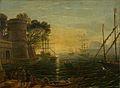 Claude Lorrain (suiveur de) - Port au coucher du soleil.jpg