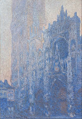 La Cathédrale de Rouen, le Portail et la Tour d'Albane, Aube