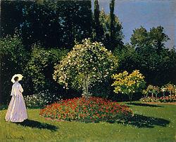 Claude Monet: Mujer en el jardín